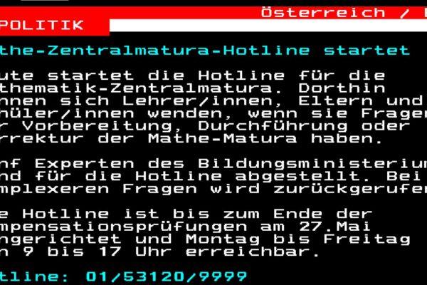 Mathe-Zentralmatura Hotline